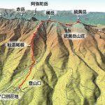 苦労して登る2800m登山