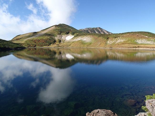 9月21日紅葉始まる白馬岳