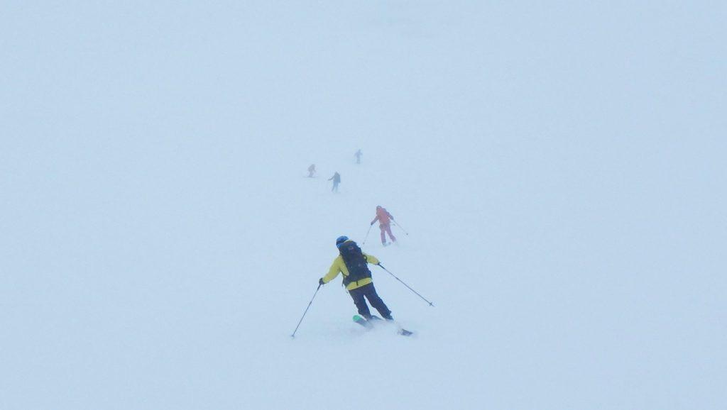 五里霧中の中での滑走